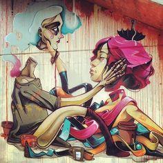 Malakkai & Isaac Mahow street art 2012