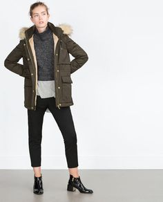 Image 1 of SHORT QUILTED JACKET from Zara