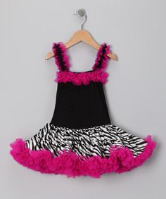 Take a look at this Black & Pink Zebra Drop-Waist Dress - Infant, Toddler & Girls by Royal Gem Clothing on #zulily today!