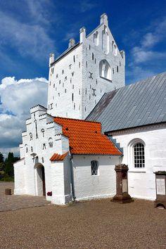 White Church, Voer Kirke, Nordjylland, Denmark