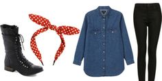 Simple Halloween costumes made from stuff you already have (or at least simple items you can get a hold of)  Rosie The Riveter!