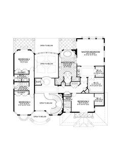 First Floor Plan of Florida Mediterranean House Plan
