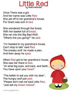 20. Little Red - These Poems For Kids Are Funny and Sweetest_20