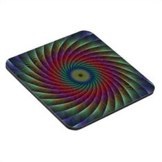 Swirl fractal beverage coaster $29.80 *** Colorful swirl fractal design - coaster