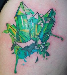 watercolour crystal tattoo
