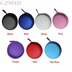 Curewe Kerien Charming Nice Colourful Portable Mini Round Hard Storage Case Bag for Earphone Headphone SD TF Cards Travel Mini, Flight And Hotel, Worldwide Travel, Practical Gifts, Electronic Devices, Shape Design, Travel Accessories, Pink Purple, Usb