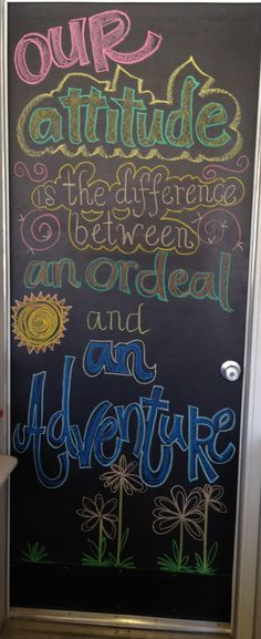 Attitude chalkboard art 6/2/13