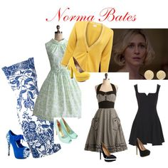 I will wear anything Norma Bates wears in Bates Motel.  She is my fashion twin.