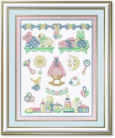 Cross Stitch Patterns by EMS Design. Designs for Babies and Birth Announcements.