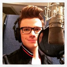 """Recording my last Glee song. Hope I find an excuse to sing after this."""