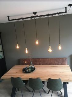 Are you looking for dimmable LED recessed spotlights? # Living room # lit up … Living Room Lighting, Living Room Decor, Recessed Spotlights, Interior Minimalista, Room Lights, Dining Room Design, Bar Lighting, Home And Living, Interior Inspiration