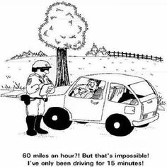 Old lady speeding ticket joke