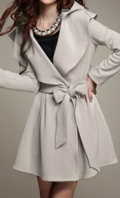 Beautiful Trench with Bow