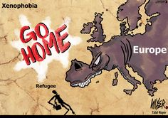 The face of xenophobia. Today's cartoon by Talal Nayer: http://www.cartoonmovement.com/cartoon/27475