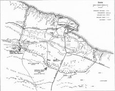 Map of Tobruk with sheltered harbour