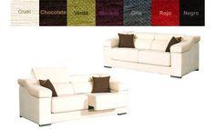 Sofas de dos y tres plazas con asientos deslizantes. Varios colores