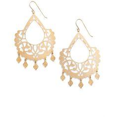 Women's Argento Vivo Drop Earrings (7.275 RUB) ❤ liked on Polyvore featuring jewelry, earrings, gold, metallic jewelry, polishing gold jewelry, yellow gold earrings, argento vivo jewelry and yellow gold jewelry
