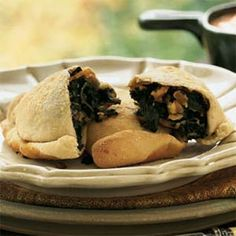 Spinach and Kale Turnovers - A delicious-sounding appetizer with very nutritious ingredients