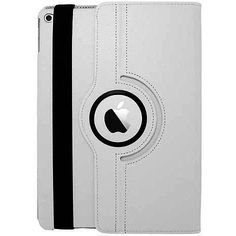 EGC Leather 360-degree Rotating Stand iPad Air 2 Case - White