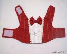 DIY Pets Crafts : DIY Formal Red Pinstripe Dress Tuxedo Harness for Pets by mypupstuff by fran