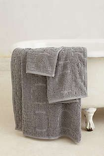 Marigold Towel Collection Anthropologie Towels And Bath - Grey decorative towels for small bathroom ideas