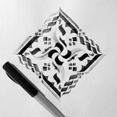 Mandara calligraphy strokes.