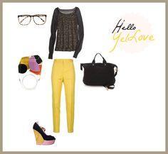 #set #outfit #clothes #stylish #yellow #gold Hello YelLove / by Taki Trik