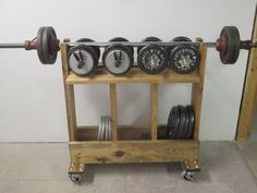 Weight Rack : 3 Steps (with Pictures) - Instructables Home Gym Bench, Home Gym Basement, Gym Room At Home, Workout Room Home, Basement Ideas, Home Made Gym, Diy Home Gym, Dumbbell Rack, Ideas
