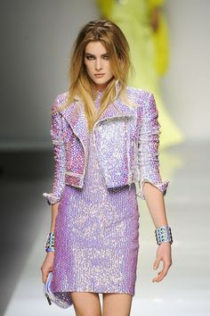 Blumarine Fall 2012. The color and texture is the same as a dress I had for a Barbie in 1989