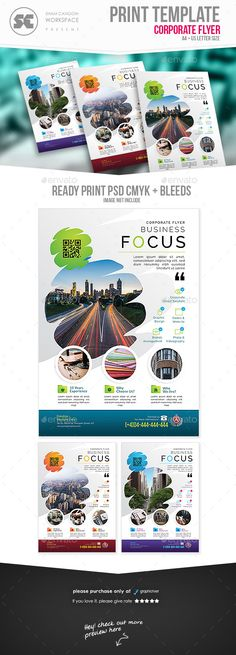 Flyer templates designed exclusively for corporate, business, agency, promotion or any of use. Fully editable, image/logo can be quickly added or replaced in smart objects. Easy to edit just find and replace image in the smart object layer, then edit the text