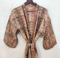 Silk Robe Long, Silk Kimono Robe, Boho Kimono, Kimono Dress, Long Gown Dress, Floral Kimono, Silk Dress, Festival Outfits, Festival Clothing