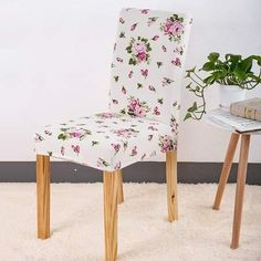 Chair cover Sunny style - Sunailoom Patterned Dining Chairs, Patterned Chair, Stretch Chair Covers, Spandex Chair Covers, Barndominium, Dining Seat Covers, Kitchen Table Chairs, Dining Room, Room Kitchen
