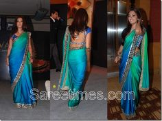 Saree with the colors of the sea