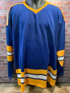 8794e675d Details about Vintage 90 s ST.LOUIS BLUES CCM Maska BLANK NHL Hockey Jersey  L MADE IN USA