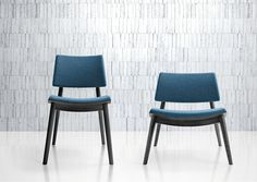 To-kyo - Beautiful lounge chair with upholstered seat and back and wood frame available at Sandler Seating #InteriorDesign #Furniture #Design