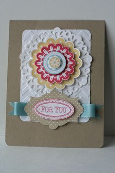 Quint Essential Flower ; Oval all ; Apothecary accents framelits ; Scalloped Circle punch ; 2 3/8 Scalloped Circle punch ; Circle punches ; Delicate doilies sizzlit ; Chevron TIEF