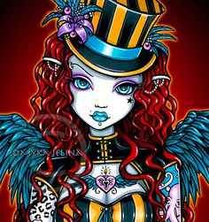 Layla Steampunk Couture Tattoo Circus Angel Art BIG by MykaJelina Steampunk Tattoo, Mystical Art, Big Eyes Art, Hippie Art, Art, Fairy Art, Gothic Angel, Card Art, Angel Art