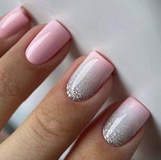 French Manicure Nails, French Nails, Gel Nails, Neutral Nail Art, Bright Nail Art, Swirl Nail Art, Nail Art Diy, Natural Acrylic Nails, Best Acrylic Nails