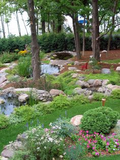 Built into a hillside, these multiple ponds are all connected by a small stream. Posted by Rate My Space contributor triciaf. Ponds Backyard, Backyard Fences, Garden Fencing, Horse Fencing, Pool Fence, Landscaping With Rocks, Backyard Landscaping, Landscaping Ideas, Tips And Tricks