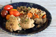 Crock Pot Chicken With Farro and Vegetables