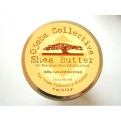 Ojoba Collective Raw, Unrefined Shea Butter: Fresh & Creamy - Naturally Nourishing Skin Cream 100% Fair Trade from Ghana (4 oz/113g) Unscented