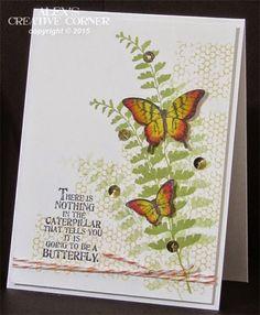 butterfly garden Butterfly Basics card by Alex Bleicher Butterfly Cards, Flower Cards, Butterfly Wings, Bird Cards, Butterfly Design, Stampin Up Karten, Stampin Up Cards, Birthday Cards For Women, Paper Cards