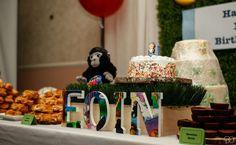 Good Night Gorilla First Birthday   CatchMyParty.com #goodnightgorilla #firstbirthday #party