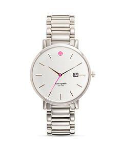 kate spade watch. silver. bloomingdales