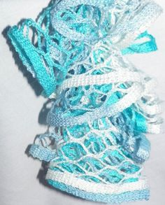 Blue crochet ruffle scarf frilly scarf ruffle scarf yarn seabreeze crochet ruffle scarf ruffle scarf yarn ruflle scarf crochet starbella yarn blue and white scarf dt1010fo