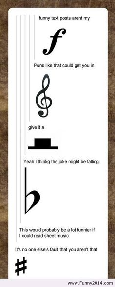 xD Wow... I hope everybody can read that! Know ur accents!!! Music Jokes, Music Humor, Funny Music, Orchestra Humor, Humour, El Humor, Band Jokes, Band Puns, Band Geek Humor
