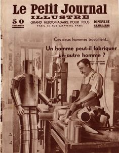 """""""Willie Vocalite"""" robot on French newspaper"""