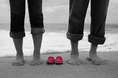 Waiting for their princess to come :-) Maternity Photo Session on the Beach