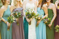 Pretty fall bridesmaids.