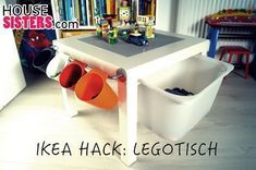 Great Totally Free HouseSisters Hack - DIY: IKEA nursery hack from the IKEA LACK table was a . Concepts On among my really regular trips to IKEA I found cheaper lacking platforms which were an ideal shad Ikea Kids, Ikea Children, Hacks Diy, Ikea Hacks, Ikea Lack Hack, Laquer Une Table, Mesa Lego, Table Lego, Ikea Lack Table